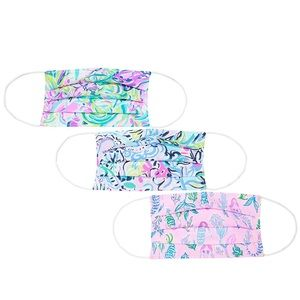 ⬇️ 3 pc Lilly Pulitzer face masks Lilly's Favorite
